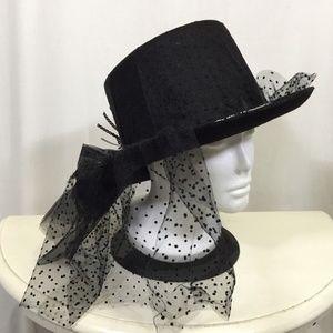 Spider Top Hat Black Gothic Asymmetrical Costume